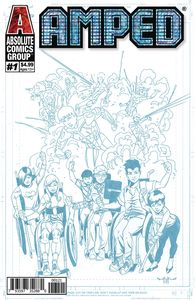 [Amped #1 (Blue Line Holographic Logo Variant Cover) (Product Image)]