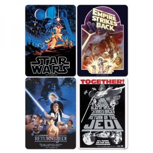 [Star Wars: Set Of 4 Coasters: Film Posters (Product Image)]