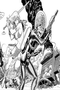 [Mars Attacks/Red Sonja #1 (Kitson Black & White Virgin Variant) (Product Image)]