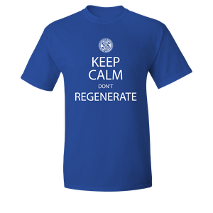 [Doctor Who: T-Shirt: Keep Calm & Don't Regenerate (Product Image)]
