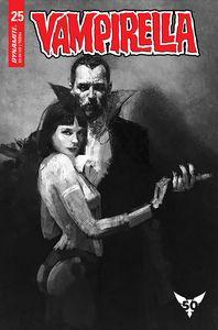 [Vampirella #25 (Cover R Mastrazzo Black & White Variant) (Product Image)]