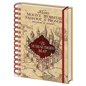 [Harry Potter: A5 Notebook: The Marauders Map (Product Image)]