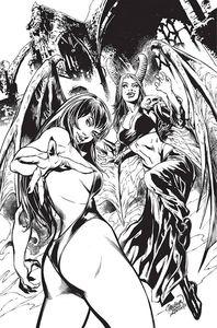 [Vampirella Vs Purgatori #1 (Pagulayan B&W Virgin Premium Variant) (Product Image)]