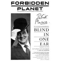 [Patrick MacNee signing Blind in One Ear (Product Image)]