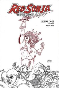 [Red Sonja: Price Of Blood #1 (Linsner Black & White Variant) (Product Image)]