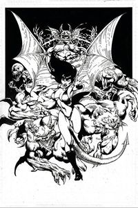 [Vengeance Of Vampirella #12 (Castro Black & White Virgin Variant) (Product Image)]