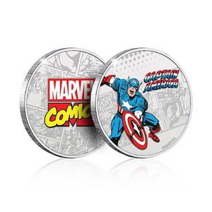 [Marvel: .999 Silver Plated Coin: Captain America (Product Image)]