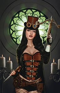 [Van Helsing Vs Draculas Daughter #5 (Cover C Jimenez) (Product Image)]