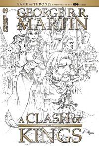 [George R.R. Martin's A Clash Of Kings #9 (Rubi Black & White Variant) (Product Image)]