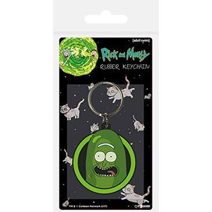 [Rick & Morty: Rubber Keychain: Pickle Rick (Product Image)]