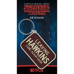 [Stranger Things: Rubber Keychain: Leaving Hawkins (Product Image)]