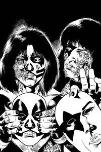 [Kiss: Zombies #5 (Buchemi B&W Virgin Variant) (Product Image)]