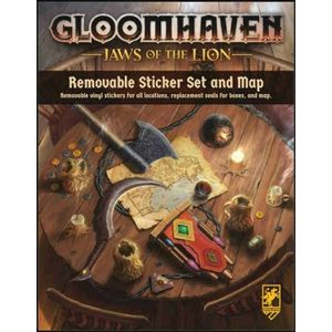 [Gloomhaven: Jaws Of The Lion: Removable Sticker Set & Map (Product Image)]