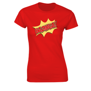 [The Big Bang Theory: Women's Fit T-Shirt: Bazinga! (Product Image)]