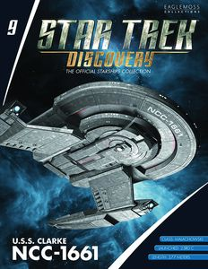 [Star Trek: Discovery: Figure Magazine #9: USS Clarke NCC-1661 (Product Image)]