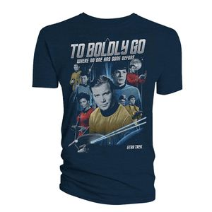 [Star Trek: The Original Series: T-Shirt: The Crew & Badge (Product Image)]