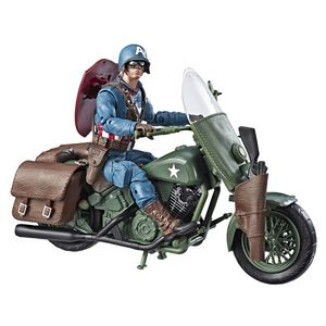 [Marvel Comics 80th Anniversary: Marvel Legends Action Figure: Captain America With Motorcycle (Product Image)]