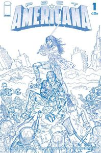 [Post Americana #1 (Cover E Skroce Blueline Variant) (Product Image)]