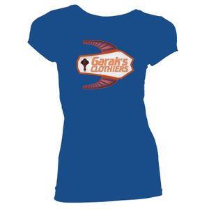 [Star Trek: Deep Space Nine: Women's Fit T-Shirt: Garak's Clothiers (Blue) (Product Image)]
