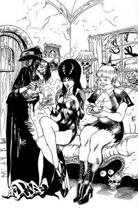 [Elvira: Mistress Of The Dark #10 (Castro B&W Virgin Variant) (Product Image)]