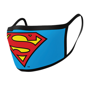 [Face Mask 2-Pack: Superman Logo (Product Image)]
