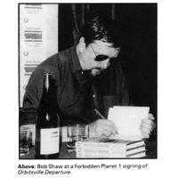 [Bob Shaw signing Orbitsville Departure (Product Image)]
