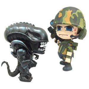 [Aliens: Cosbaby Set: Alien Warrior & USC Marine (Product Image)]