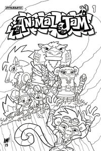 [Animal Jam #1 (Cover D Coloring Book Cover) (Product Image)]