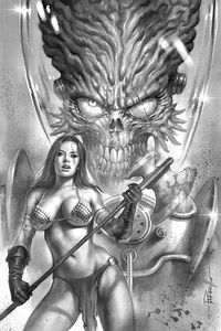 [Mars Attacks/Red Sonja #1 (Parrillo Black & White Virgin Variant) (Product Image)]