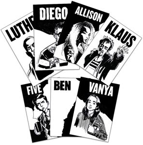 [The Umbrella Academy: Mini Print Pack: Heroes By Gabriel Bá (Product Image)]