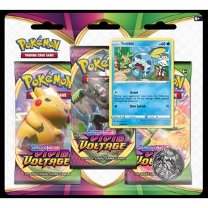 [Pokemon: Sword & Shield 4: 3 Pack Booster: Vivid Voltage (Product Image)]