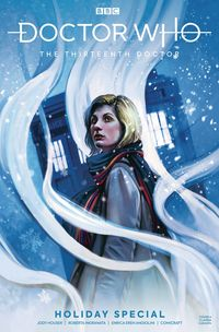 [The cover for Doctor Who: The 13th Doctor: Holiday Special #1 (Cover A Caranfa)]