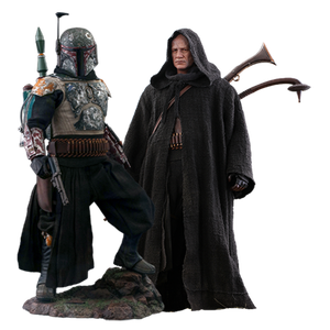 [Star Wars: The Mandalorian: Hot Toys Action Figure: Boba Fett Deluxe Twin Set (Product Image)]