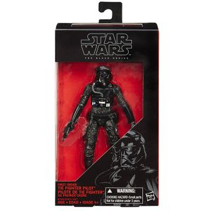 [Star Wars: The Force Awakens: Black Series: Wave 3 Action Figures: First Order TIE Fighter Pilot (Product Image)]
