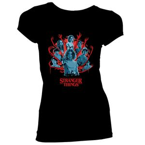 [Stranger Things: Season 3: Women's Fit T-Shirt: The Gang's All Here (Product Image)]