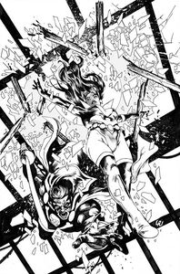 [Vampirella: Dark Powers #4 (Black & White Virgin Variant) (Product Image)]