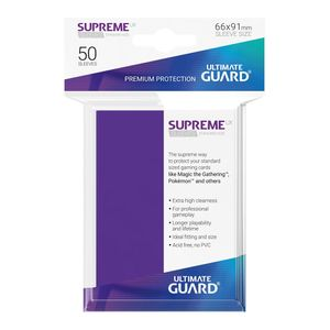 [Supreme UX Sleeves: Standard Size 50 Pack: Purple (Product Image)]