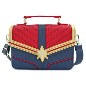 [Marvel: Faux Leather Cross Body Bag: Captain Marvel (Product Image)]