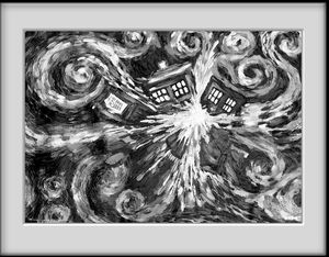 [Doctor Who: Framed Print: Exploding TARDIS (Product Image)]