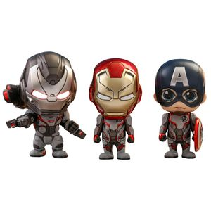 [Avengers: Endgame: Cosbaby Figures: Captain America, Iron Man & War Machine (3 Pack) (Product Image)]