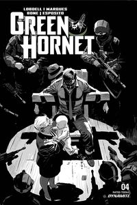 [Green Hornet #4 (Weeks Black & White Variant) (Product Image)]