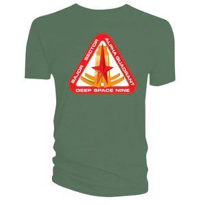 [Star Trek: Deep Space Nine: T-Shirt: Bajor Sector (Green) (Product Image)]
