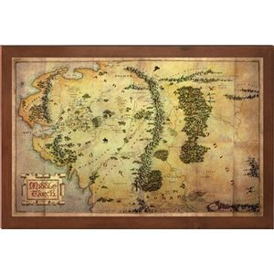 [The Hobbit: Map: Middle Earth (Product Image)]