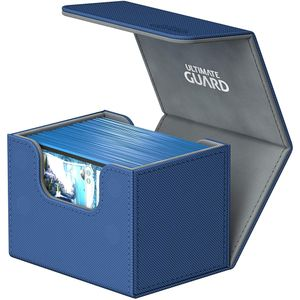[Ultimate Guard: Sidewinder Deck Case: 100+ Standard Size Xenoskin: Blue (Product Image)]