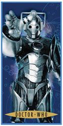 [Doctor Who Clothing: Cyberman Bath Towel (Product Image)]