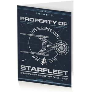 [Star Trek: Discovery: Greeting Card: Property Of Starfleet (Product Image)]