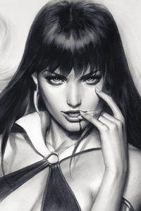 [Vampirella #5 (Artgerm Sneak Peek Virgin Charcoal Variant) (Product Image)]