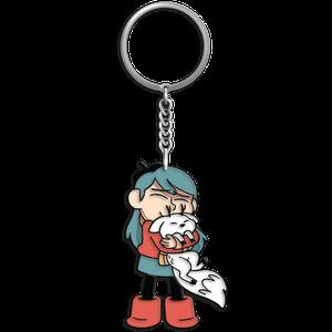 [Hilda: Enamel Keychain: Hilda & Twig (Product Image)]