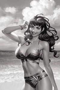 [Bettie Page #3 (Yoon Black & White Virgin Variant) (Product Image)]