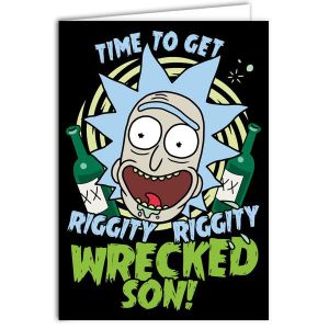[Rick & Morty: Greetings Card: Riggity Wrecked (Product Image)]